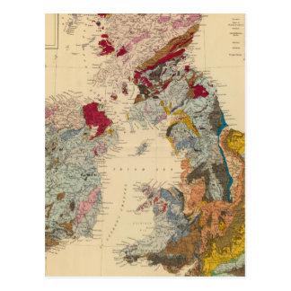Carte géologique, îles britanniques cartes postales