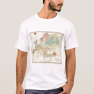 Carte géologique l'Europe T-shirt