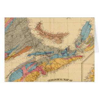 Carte géologique, provinces maritimes