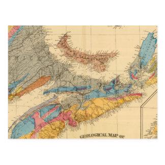 Carte géologique, provinces maritimes cartes postales