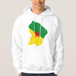 Carte GF de drapeau de Guyane Sweats À Capuche