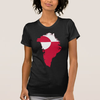 Carte GL de drapeau du Groenland T-shirt
