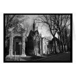 Carte gothique de cimetière de mausolée