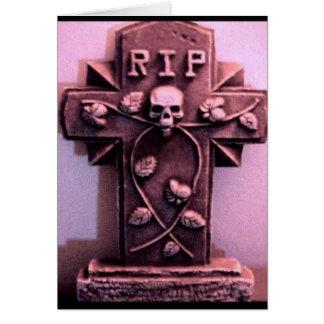Carte gothique de gris de pierre tombale