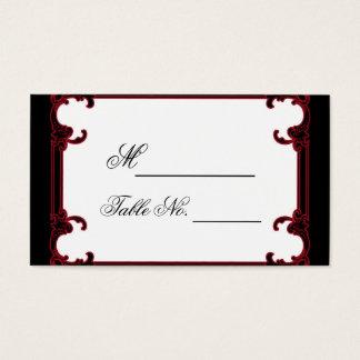 Carte gothique rouge élégante d'endroit de mariage