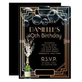 Carte Grand Gatsby a inspiré l'invitation d'anniversaire