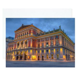 Carte Grand hall de saucisse Musikverein, Vienne,