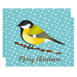 Carte Grande coutume de Joyeux Noël de commandant oiseau