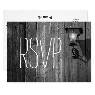 Carte Grange vintage du pays B/W Wedding- RSVP