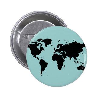 carte graphique noire du monde badges