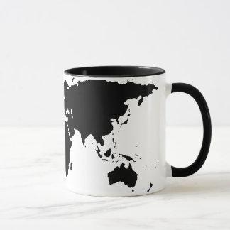 carte graphique noire du monde tasse