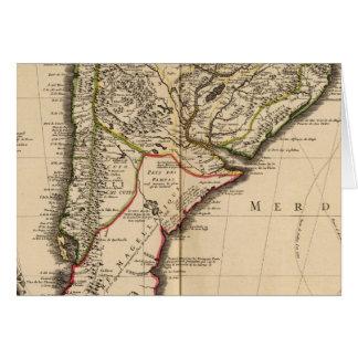 Carte gravée sud-américaine