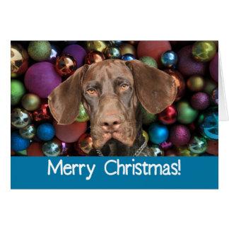 Carte grisâtre brillante de Joyeux Noël