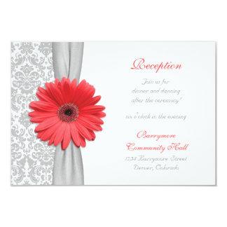 Carte grise de réception de mariage damassé de