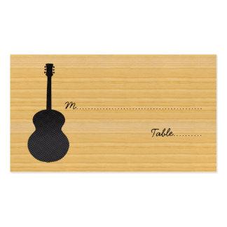 Carte grise d'endroit de guitare de pays carte de visite standard