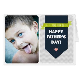 Carte grise moderne de fête des pères de photo de