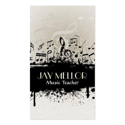 Carte grunge d'industrie musicale modèle de carte de visite