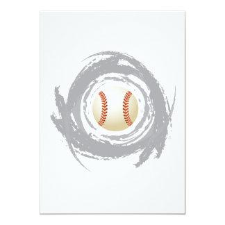 Carte Grunge gentille de circulaire de base-ball