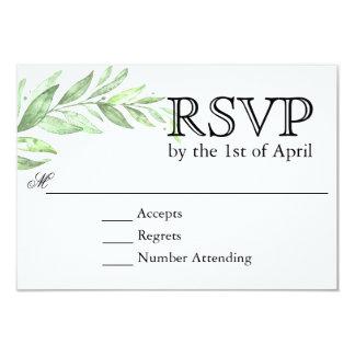 Carte Guirlande de laurier de verdure épousant RSVP