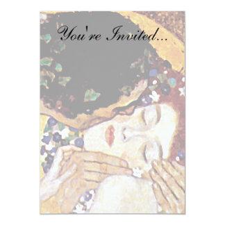 Carte Gustav Klimt - le baiser - art vintage Nouveau