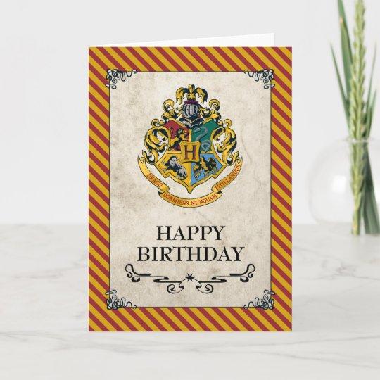 Carte Harry Potter Joyeux Anniversaire De Hogwarts Zazzle Fr