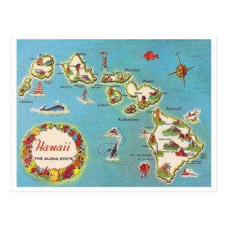 Carte hawaïenne vintage cartes postales