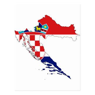 Carte heure Hrvatska de drapeau de la Croatie Cartes Postales