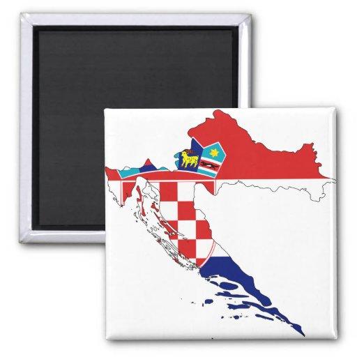 Carte heure Hrvatska de drapeau de la Croatie Magnets