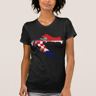 Carte heure Hrvatska de drapeau de la Croatie T-shirts