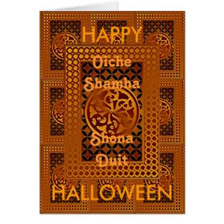 Carte heureuse celtique de Halloween