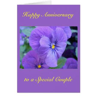 Carte heureuse d'anniversaire de mariage
