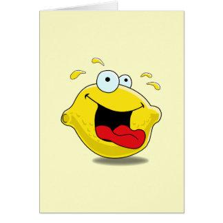 Carte heureuse de citron de bande dessinée