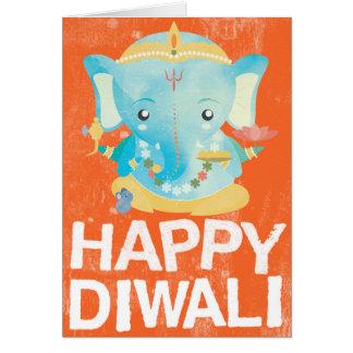 Carte heureuse de Diwali