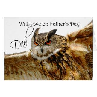 Carte heureuse de fête des pères avec le duc