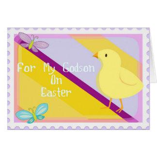 Carte heureuse de filleul de Pâques