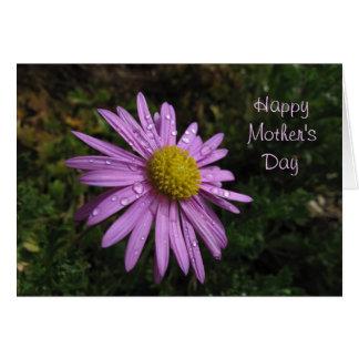 Carte heureuse de fleur du jour de mère