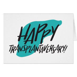 Carte heureuse de foie de Transplantaversary