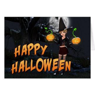 Carte heureuse de Halloween Skye