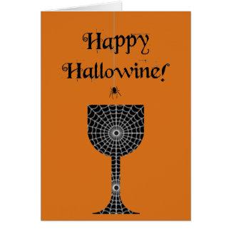 Carte heureuse de Hallowine Halloween