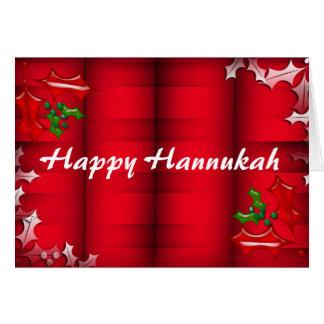 Carte heureuse de Hannukah