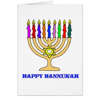 Carte heureuse de Hannukah Menorah