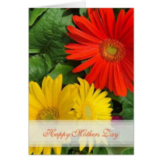 Carte heureuse de jour de mères de marguerite