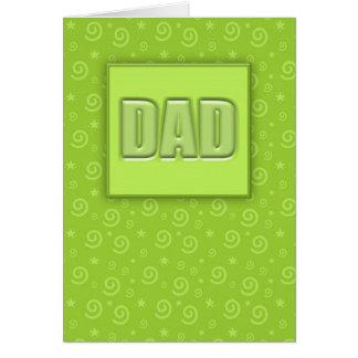 Carte heureuse de la fête des pères #1 (chaux)