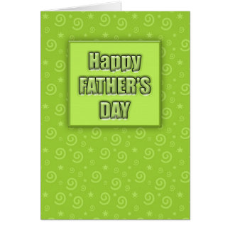 Carte heureuse de la fête des pères #2 (chaux)