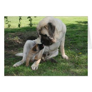 Carte heureuse de mastiff de papa de jour de