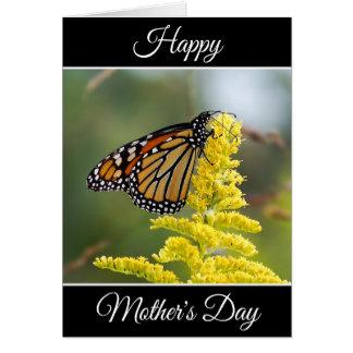 Carte heureuse de monarque du jour de mère