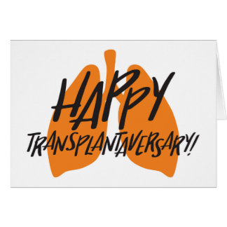 Carte heureuse de poumons de Transplantaversary