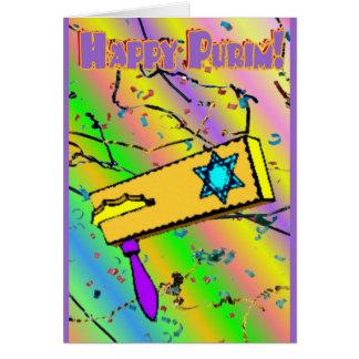 Carte heureuse de Purim