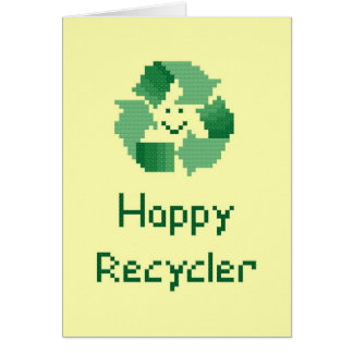 Carte heureuse de recycleur