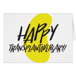 Carte heureuse de rein de Transplantaversary